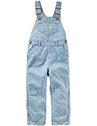 Baby Girls' Dot Print Denim Overalls