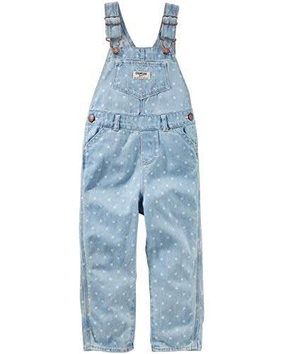 (OshKosh B'Gosh Baby Girls' Toddler World's Best Overalls, dot,)