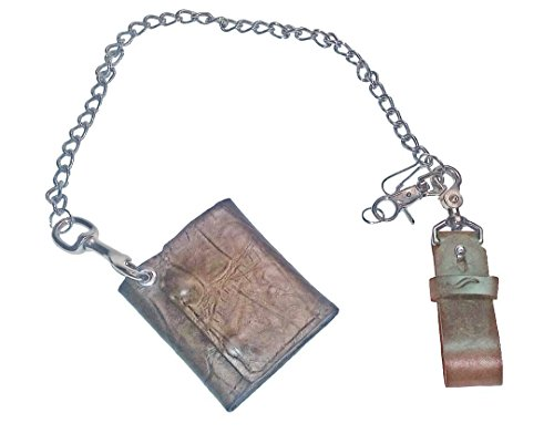 KeyChain and Trifold Wallet Heavy Leather, - Tri Fold Tooled Leather