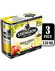 Strongbow Apple Cider Gold Apple Can, 320ml (Pack of 3)