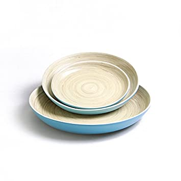 Review Bamboo Plates Set of