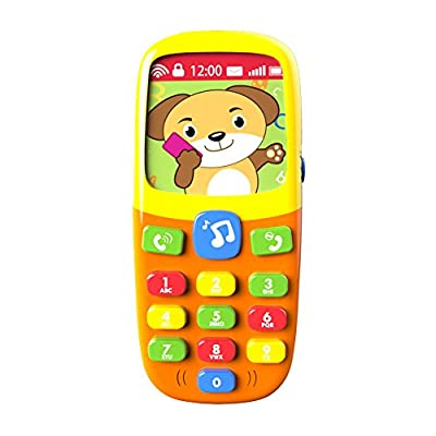 3D Music Mobile Phone - Baby Toy - Kids Learning Toy-Play Cell Phone Learning Music Mobile Phone -Educational Toy - Cartoon music phone toy for boys girls toddler kids children by TOYK China that we recomend individually.