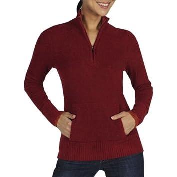 ExOfficio Damen Unwiderstehliche Neska 1/4 Zip Pullover, damen, DK Brick