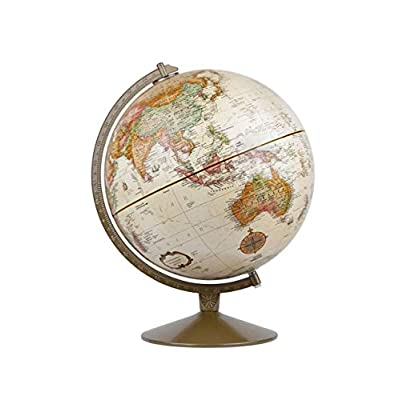 Replogle Globes Franklin World Globe, Antique Ocean, 12-Inch Diameter,Over 4,000 Place Names: Replogle Globes: Home & Kitchen