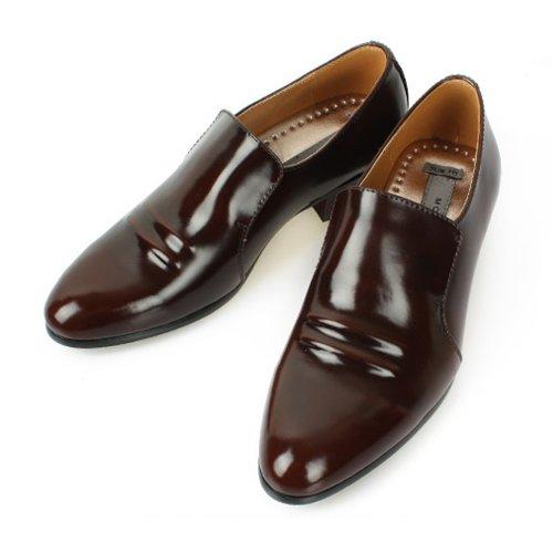 Nya Läder Modern Klänning Formella Loafers Halka På Manar Skor Brun