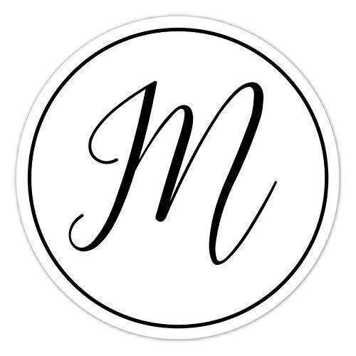 - 60 Black and White Monogram Stickers, Wedding Stickers, Envelope Seals, Monogram Labels - 2 inch round OR 2.5 inch round