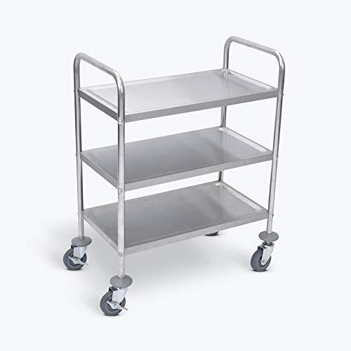 (LUXOR L100S3 Stainless Steel Cart, 3 Shelves)