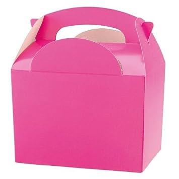 45 Infantil/Niños Color Liso para llevar comida fiesta cumpleaños Caja Bolsa Sorpresa Cajas - tamaño: 152mmx 100mmx 102mm - Rosa/Fucsia: Amazon.es: Hogar