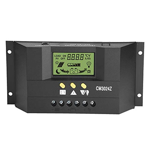 Solar Panel Controller,PWM Intelligente Solar Panel Laderegler Regler LCD Display 12 V / 24 V 30A Schwarz
