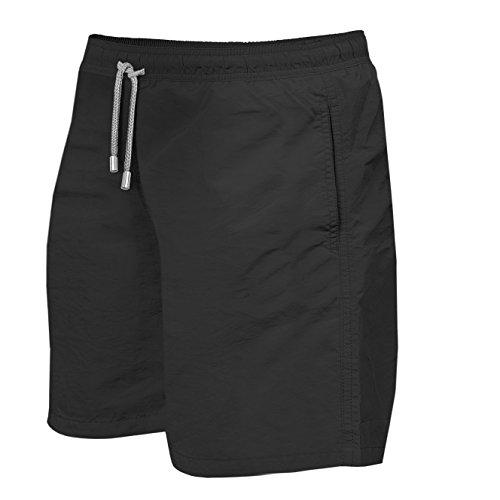 Herren Badeshorts - in vielen trendigen Farben - Badehose Bermudashort (M, Black)