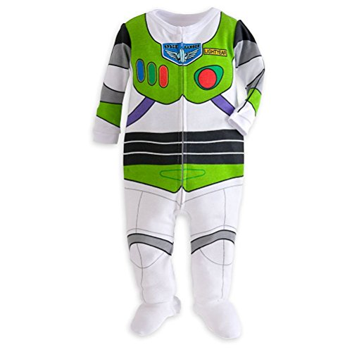 Disney Store Toy Story Buzz Lightyear Costume Little Boy Footed Pajama 18-24 M
