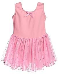 Arshiner Girls Classic Camisole Tank Sequins Tutu Dress Leotard
