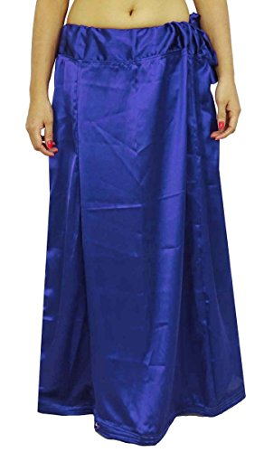 ibaexports Satin Silk Saree Petticoat Underskirt Bollywood Indian Lining For Sari