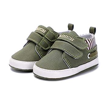 cc4fd28c1703f Amazon.com : Infant Babies Boy Girl Shoes Sole Soft Canvas Solid ...