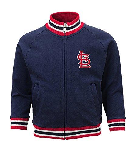 MLB St. Louis Cardinals Boys 4-7 Baseball Run Track Jacket-L (7), Athletic Navy