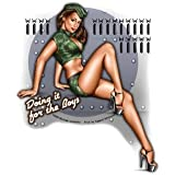 Michael Landefeld - Doing It For The Boys Army Military Pin-up Girl - Sticker / Decal