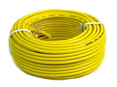 16 GA 50' Feet Yellow Audiopipe Car Audio Home Remote Primary Cable Wire