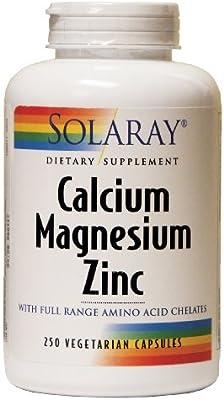 Amazon.com: Solaray – Calcio Magnesio Zinc, 250 Cápsulas ...