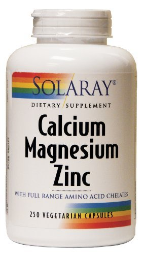 Solaray - Calcium Magnesium Zinc, 250 capsules (Pack of 3) , Solaray -frse