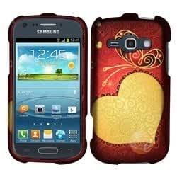 Rubberized Design Cover compatible with Samsung Galaxy Prevail 2/Galaxy Ring, Mesmerizing Heart
