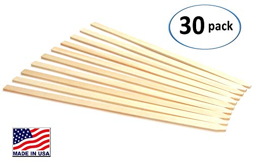 "30 Pack 23"" Wood Stakes for Garden or Sign Posting"