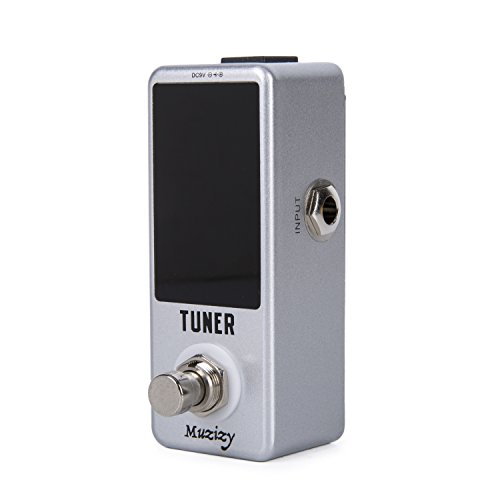 Muzizy Guitar Tuner Pedal ±1 Cent with LCD Display True Bypass Chromatic Pedal Tuner for Guitar & Bass