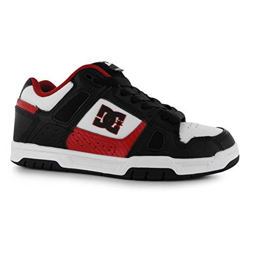 Chaussures de skate DC Stag pour homme Noir/blanc/rouge décontracté Baskets Sneakers