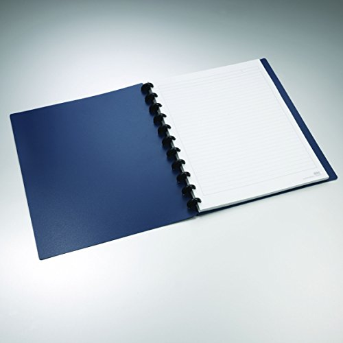 Staples Arc Customizable Durable Poly Notebook System, Navy, 9-3/8