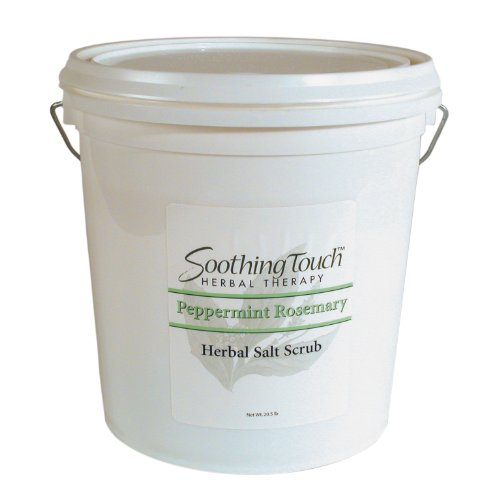 Soothing Touch Salt Scrub (Soothing Touch W67365PR20 Salt Scrub Peppermint Rosemary, 20-Pound)