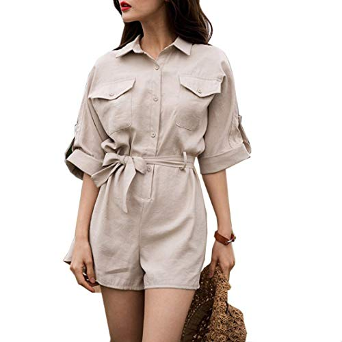 Women's Jumpsuits Europe and The United States Summer XL High Waist Loose One-Piece Shorts Jumpsuit Suit