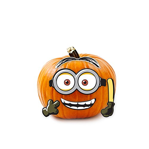 Minions Movie Despicable Me Halloween Wood Pumpkin Push-in 5 Pieces]()