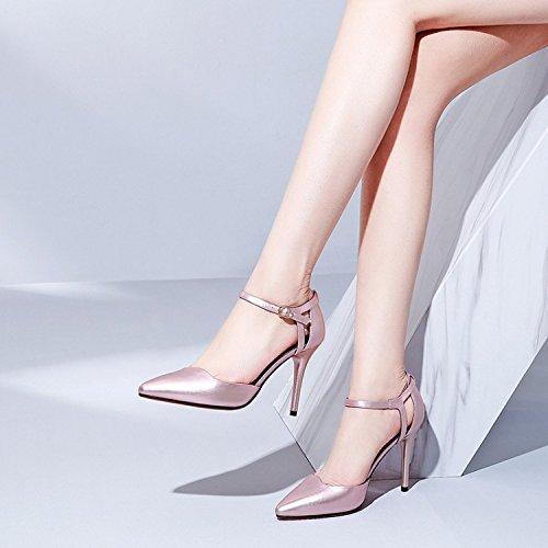 Jqdyl High Heels Damen Single Schuhe Frühling High Heel Feine Feine Feine Ferse Spitze Knöchel flachen MunJahreszeiten 19c09f