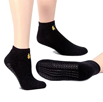Warrior Alpaca Socks - Women's Pilates & Yoga Alpaca Sock Black S