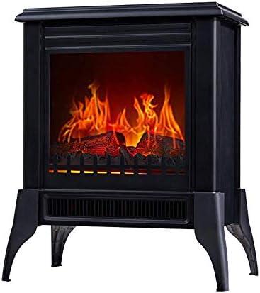 電気スペースヒーター-現実的な炎、3 S高速暖房システム、オフィスの家の使用のためのポータブル暖炉ストーブ、1800 Wを備えたヨーロッパスタイルの暖炉ヒーター