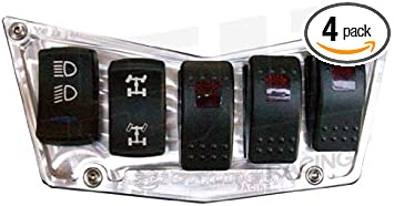 Dash Panel Polaris Ranger RZR 800 XP 900 CNC Billet 4 Switch Black Aluminum