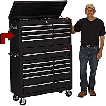 Torin 42in Top 8 Drawer Tool Chest 41 3 8in W X 17 1 2in D X 21 3 4in H Model Tbt4408x Amazon Com