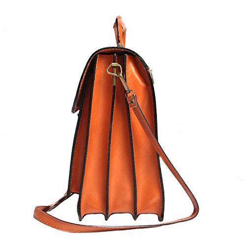 Maletín Cm 39x30x18 mujer de italiano Made bolsa Italy cuero El de la hombre in Cartel y en Cuero rFarqxp