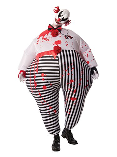 Rubie's Costume Co Men's Inflatable Evil Clown Costume, Multi, Standard -
