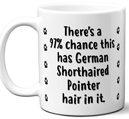 Funny Dog Gifts For Women & Men. German Shorthaired Pointer Owner Mug Coffee Tea Cup. Dog Themed Present Dog Mom Dog Dad Dog Lover Men Girls Groomer Women Xmas Birthday Mother's Day, Father's Day.