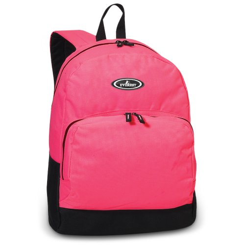 Everest Classic Backpack w/ Front Organizer Color: Hot Pink