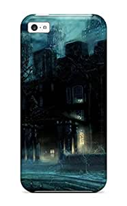 Hot Tpu Cover Case For Iphone/ 5c Case Cover Skin - Attractive Dark Castle