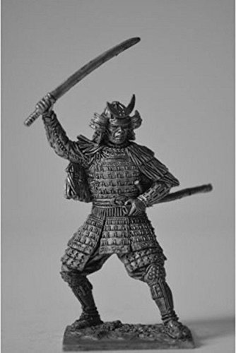 16th Century Swords - HISTORICAL TIN FIGURES SAMURAI IN A STRAW CAPE WITH SWORD 16TH CENTURY 1/32 SA5