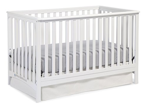 Storkcraft Hillcrest Fixed Side Convertible Crib, White, Easily Converts to Toddler Bed Day Bed or Full Bed, Three Position Adjustable Height Mattress, Some Assembly Required (Mattress Not Included) Review
