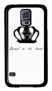 Cool Crown PC Black Hard Case Cover Skin For Samsung Galaxy S5 I9600 hjbrhga1544