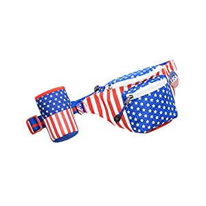 American Flag USA Fanny Pack with Drink Holder