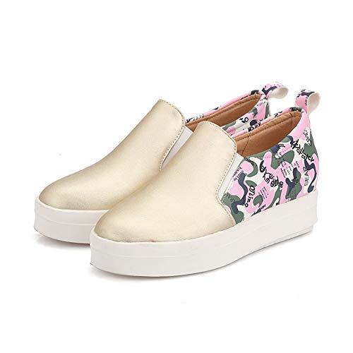 Sandales 5 Femme 36 AN doré Or Compensées DGU00596 8wnqBnf05a