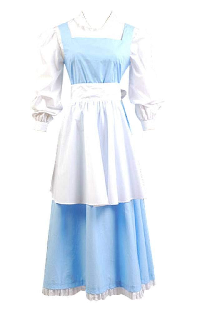 Dienstmädchen Kleid Prinzessin Kostüm Cosplay Hellblau Damen M