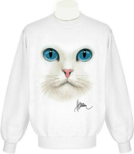Cat Face Uni-Sex Sweatshirt (Adult Small, ()