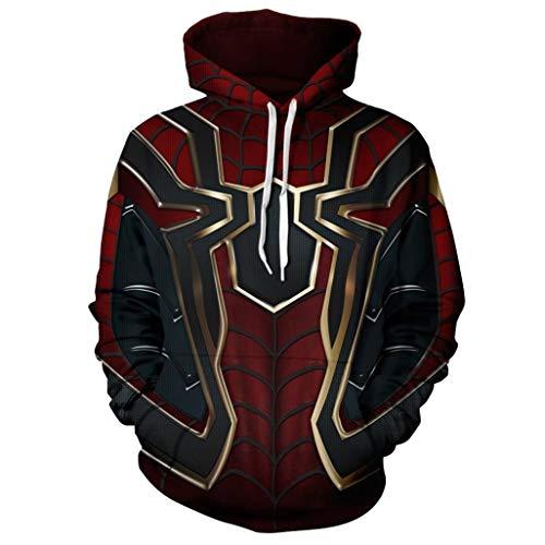 (FangjunxianST Unisex Superhero 3D Print Hoodie Cosplay Costume Hooded Sweatshirt Jacket (2X-Large))