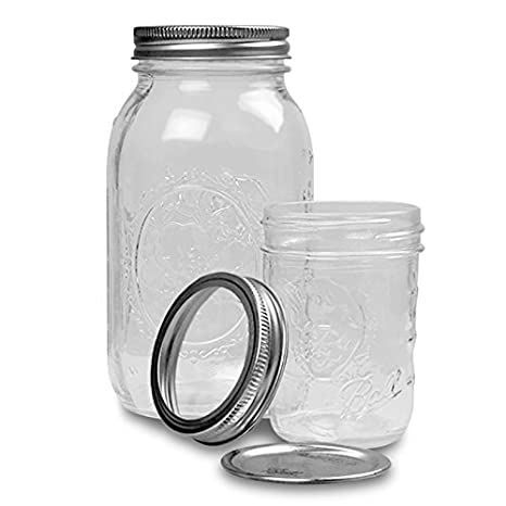 c8947f522ff9 Amazon.com: Glass Display Round Ball Mason Jars 8 Oz Clear Mason ...